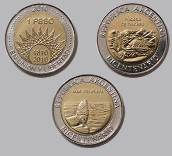 moneda de un peso, bicentenario
