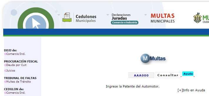 Ingresar patente AAA000
