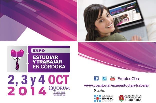 Expo Estudiar y Trabajar en Córdoba, organizada por la Agencia Promoción del Empleo y Formación Profesional de la Provincia