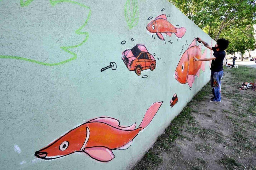 Mural de Charlando sobre Arte Urbano