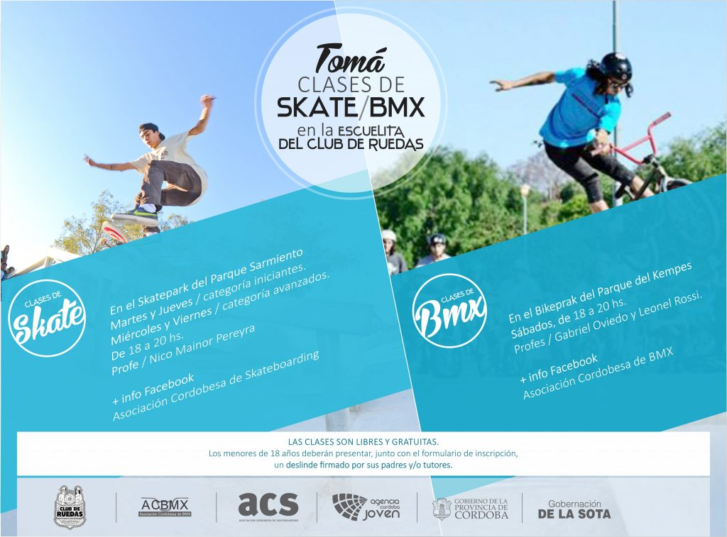 Clases de Skate y BMX Gratis en Cordoba