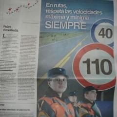 Error en publicidad de Policía Caminera de Córdoba